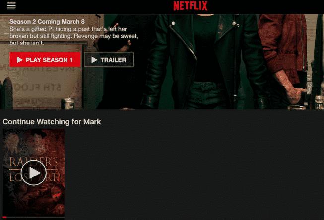 Cómo borrar el historial de visualización de Netflix