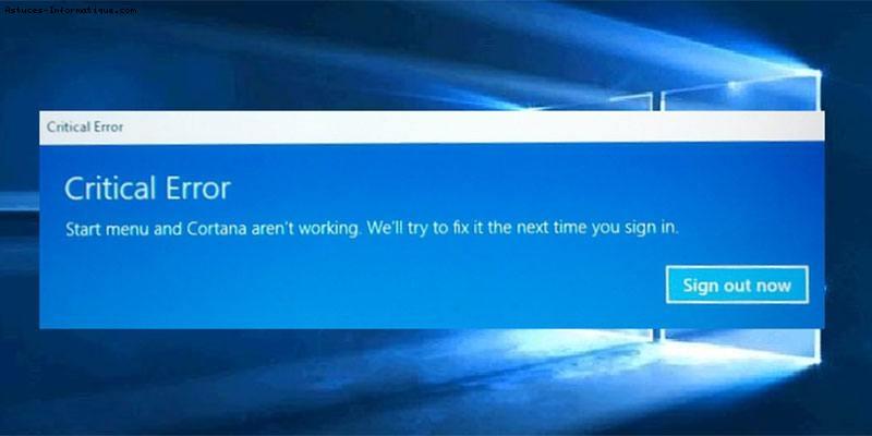 El menú Inicio no funciona en Windows 10? A continuación se indica cómo solucionar el problema