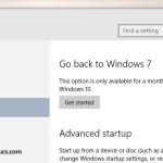 Cómo desinstalar Windows 10 y volver a Windows 7 u 8.1