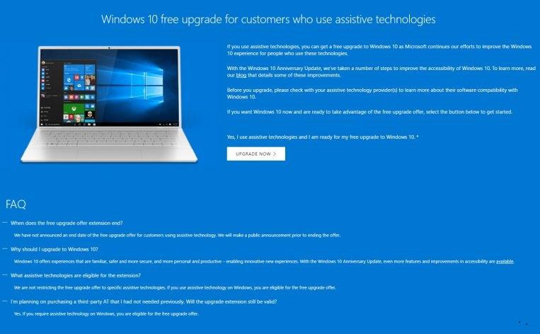 Las actualizaciones gratuitas de Windows 10 están siempre disponibles