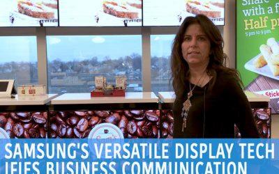 Cómo las pantallas digitales de Samsung mejoran la comunicación entre empresas y clientes