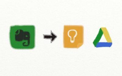 Cómo deshacerse de Evernote y pasar a Google Drive