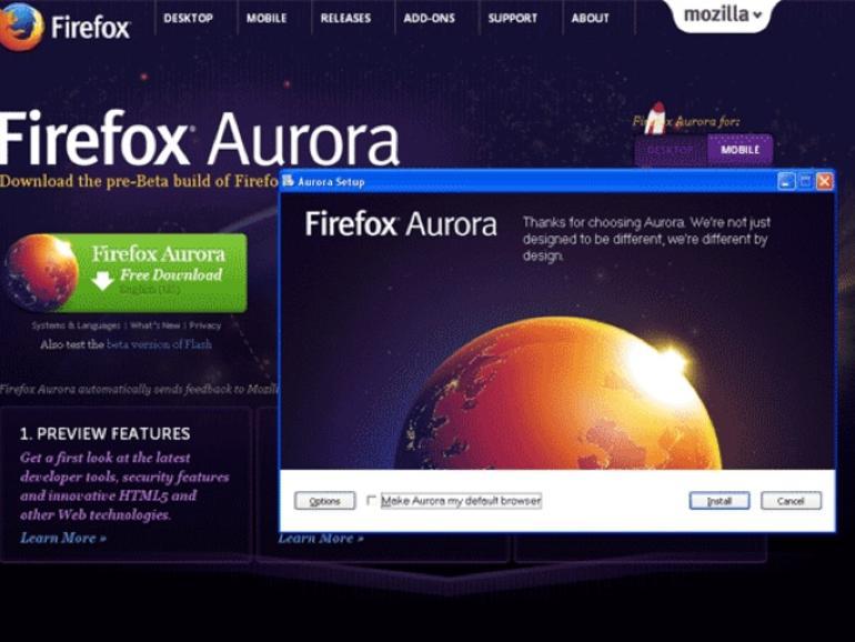 descargar firefox aurora para linux commands