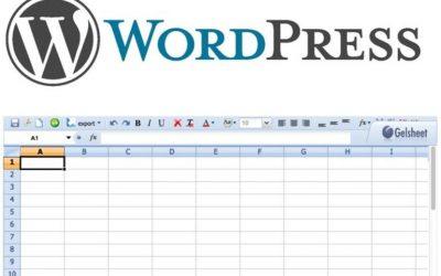 Cómo insertar hojas de cálculo en un blog de WordPress, parte 1