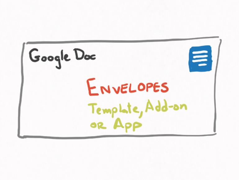 Cómo crear un sobre en Google Docs