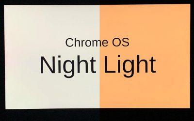 Cómo activar la luz nocturna en Chrome OS