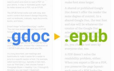 Cómo exportar tu Google Doc a EPUB y dar más control a los lectores