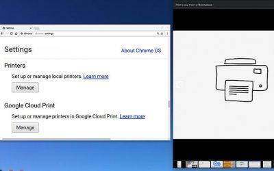 Cómo imprimir en una impresora de red local desde un Chromebook