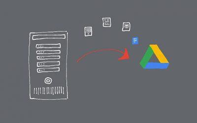 Cómo mover archivos desde un servidor in situ a la unidad de Google Drive