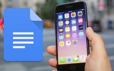 Cómo exportar un documento de Google Doc desde tu iPhone